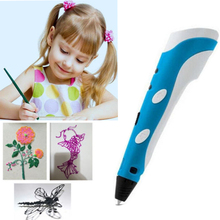 Centechia 2017 New 3D Pen DIY 3D Printer Pen Drawing Pens Best for Kids with Free ABS Filament 1.75mm Christmas Birthday gift