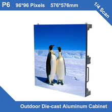TEEHO video P6 led display Outdoor Diecasting Cabinet 576mm*576mm ultra slim 1/4 scan led display module screen video wall panel(China)