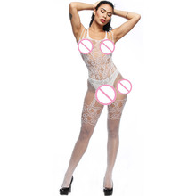 Buy feitong Women Female Sexy Lingerie Spandex Lace Floral Open Crotch Bodystockings Perspective Underwear Pajama Sexy Costumes