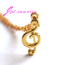 Music Note Pendant Necklaces Gold-color Handmade Fashion Jewelry for women Thanksgiving gifts(China)