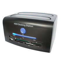 2.5, 3.5 inch SATA IDE HDD Docking Station Dual Hard Disk Drive Dock ESATA USB(China)