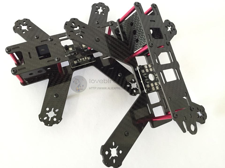 DIY mini FPV QAV210cross racing drone pure carbon fiber quadcopter frame unassembled<br><br>Aliexpress
