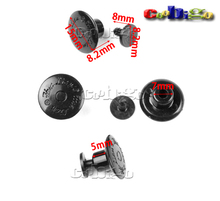 100pcs Black Plastic Fastener Snaps Buttons(15*8.2mm)+Pin(8.2*8mm) For Garment Backpack Accessories #FLN016-B(China)