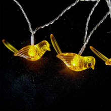 HAOCHU Creative Wedding Favors and Gift kingfisher Bird Clear Crystal LED Fairy String Light Starry Party Supplier Home Decor