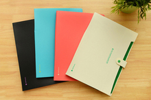 1PC Simple Waterproof Book A4 Paper File Folder Bag Accordion Style Design Document Rectangle Office Home School Color Random