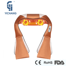 YICHANG U Shape Shawl Electric Shiatsu Neck Body Massager Vibrator Back Roller kneading Massage for Health&Relxation Care Device(China)