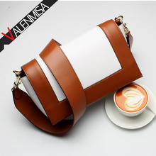 VALENMISA Genuine Leather Bags Handbags Women Famous Brands Luxury Shoulder 2017 Patchwork Messenger - Store store