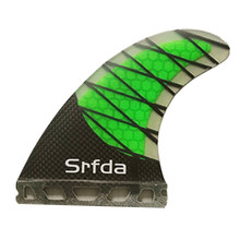 srfda future base fins with fiberglass honey comb half carbon material for surfing G3 G5 G7 size surfing fins