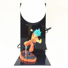 Anime Super Saiyan Goku Figures Dragon Ball DBZ LED table lamp PVC Dragon Ball Goku Action Figure Collectible Model Toys
