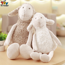 Hot Plush Curly Frizzle Sheep Lamb Couples Toy Stuffed Dolls Baby Kids Kawaii Birthday Gift Home Shop Decor Korean Japan Style(China)