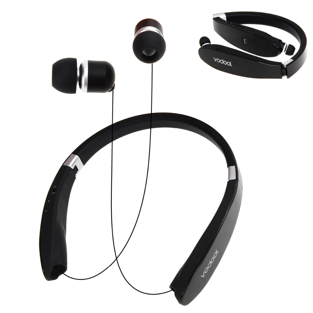 Foldable Bluetooth 4.0 Wireless Earphone HD Voice Noise Reduction Handfree In-ear Stereo Headset for Smartphone<br>