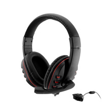 Hot New Arrival Headset Headphone w/mic for Xbox 360 for Xbox360 Live Wireless Controller Black & Red(China)