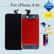 100% Check & Test Work Perfect Touch Screen for iPhone 4/4s LCD Display Digitizer Assembly Replacement AAA+++ Black/White+Gifts