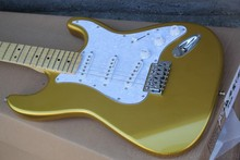 New Scalloped Fingerboard, Vintage gold goldtop Yngwie Malmsteen Guitar, Big Head stratocaster Electric Guitar