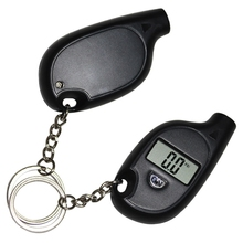 1PC Mini Keychain LCD Digital Car Tire Tyre Air Pressure Gauge Auto Motorcycle Test Tool with Cell Lithium Battery(China)