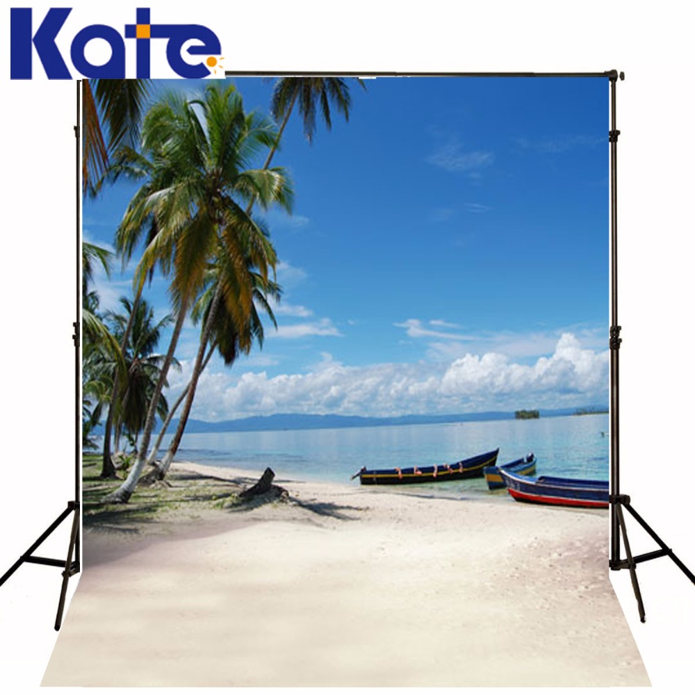 5*6.5Feet(150*200Cm) Beach Boats Clouds Photography Backdrops Photography Background Fotografia Photo Background<br>