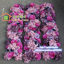 sweet new home wedding Artificial flowers arch wedding table centerpiece decorations wedding road lead flowers wall wedding(China)