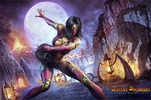 DIY frame Video Game Mortal kombat 9 Mileena characters of the game Fabric silk art poster print boy home Decorative(China)
