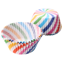 Practical 100X Paper Cupcake Liner Muffin Candy Nut Snack Greaseproof Dessert Baking Cups(China)