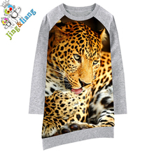 Kids Baby Dresses bibs Print Children Dress Designer Kids Clothes girls dress Long sleeve Girl clothing 2017 best cheet Fashion(China)