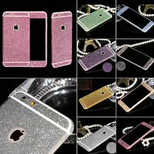 Sparkling Rhinestone Sweet Deco Case Phone 10 Colors Bling Diamond Sticker Film For Apple iPhone 6 4.7 Inch Colorful Sticker