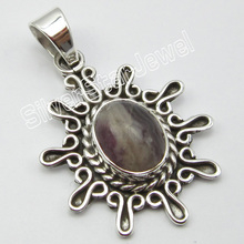 Silver REAL BOTSWANA Agates Pendant 1.4 Inch ! Cheapest Shipping(China)