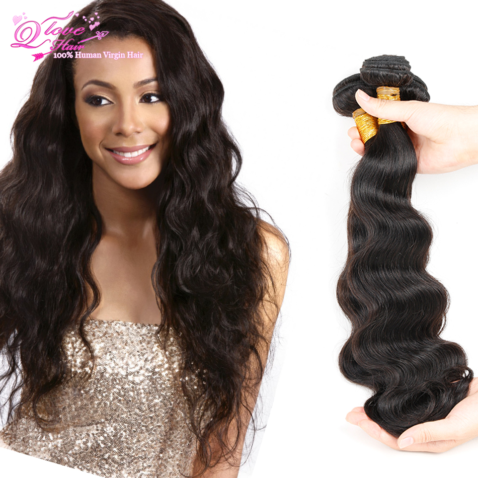 QLOVE Hair 7a Brazilian Virgin Hair Body Wave Hair Brazillian Body Wave 4 Bundles Short Hair Brazilian Weave Bundles Deals<br><br>Aliexpress