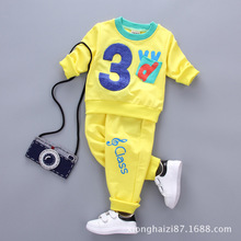 Summer 2017 New Numbers Baby Boy Style Children Fashion Sports Kids Clothes Children's Clothing Collection(China)