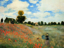 Free shipping! High Quality!handmade most famous artist oil painting reproduction Monet painting Poppies(China)