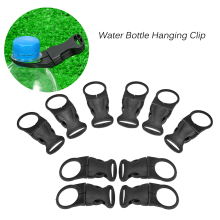 10PCS Plastic Bottle Buckle Bottle Hanging Clip Hook on Tactical Backpack Belt Bag Liner for Outdoor Camping Hiking Traveling