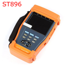 ST896 Fiber Meter CCTV Tester Monitor PTZ Audio UTP Test ST-896 Optical Power Meter Security Tester CCTV Camera Video Audio 12V