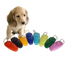Two-In-One Training Dog Ring Piece, Pet Ring Piece + Whistle Train Dog Whistle With Key Ring Dier Pet Training Clicke(China)