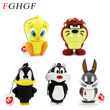 FGHGF Looney Tunes usb flash drive 32GB pendrive 16GB 8GB 4GB bugs bunny Daffy duck Cartoon Hot Sale animal pen drive usb 2.0