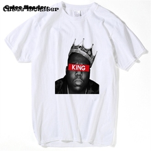 Biggie Smalls T Shirt Men 2017 Hip Hop King Crown T-shirt Gangsta Rap B.I.G. Tees Music Star Short Sleeve Top Clothing 3XL