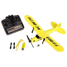 ABWE FX FX803 RC Airplane 2CH 2.4G Aircraft Glider Kid Toys with Transmitter Yellow(China)