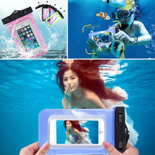 Hot Waterproof  Phone Bag Case for iphone 4 4S 5 5C 5S SE 6 6S Underwater Luminous Pouch Durable Diving Swim Outdoor Cover Bag