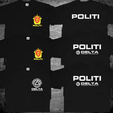 Norway Norwegian Police Politi Special Rescue Unit Delta Force T shirt men two sides gift Casual tee USA size S-3XL