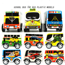 Kids development toys for children hot wheels back in the car plastic mini bus model cute for boys high quality gift