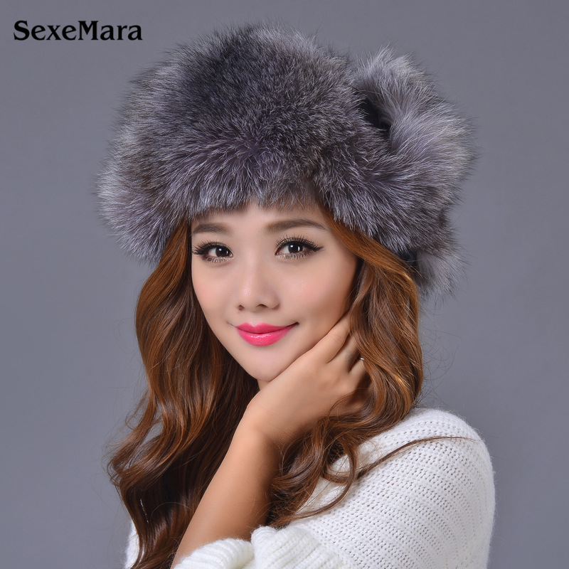 Hat Fashion Warm Skullies Womens Winter Hats Fur Hats For Women Winter Knitted Hats Ear Protection Cap Winter Cap Women E001Одежда и ак�е��уары<br><br><br>Aliexpress