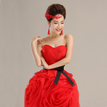 red pretty prom dress fitted sexy birthday party dresses for women ball gown buy direct from china free shipping S2483
