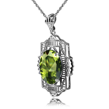 Brand Bulgaria 925 Sterling Silver Peridot Pendant Necklace Fit Chain Necklace Pendant For Women Party Vintage Jewelry Wholesale