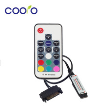12V SATA RGB Controller RF Remote Controler For PC Case LED Strip