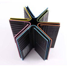 Multicolor Card Holder Mens PU Leather Wallets Colorful Side Purse Change Bag Long Wallets 5 Colors FMW813L(China)
