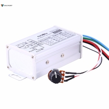 DC 9V 12V 24V 48V 60V DC Motor Speed Controller Switch Regulator Controller Small Pump Control 1200W Aluminum Alloy(China)