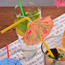100pcs drink straw for Birthday Wedding Decorative Party Supplies Paper umbrella straws Creative Drinking Straws