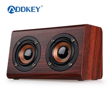 ADDKEY 2017 Wooden Bluetooth speaker suitable for mobile phone notebook speaker PC socket TF card/AUX mini speaker bass sound