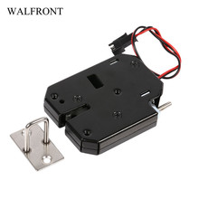 Electric Control Lock DC 12V 2A Electromagnetic Door Lock Cabinet Drawer Lockers Lock Latch Carbon Steel Black Padlock