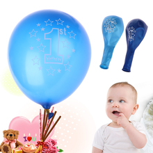 10pcs/lot Balloons Girls Boys 1st Birthday Party Printed Balloons Latex Balloons for Baby Party Decoration Festival Ornament