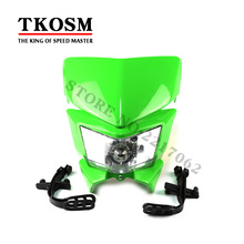 Motorcycle Universal Headlight Fit Irbis Ttr250 Klx150 250 Kayo T4 T6 Pit Pro Dirt Bike Motocross Pet Products Pic Programmer