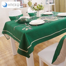 Red, yellow,blue ,green Table Cloth waterproof Tableclothes flower Print Dining  bohemian tablecloth